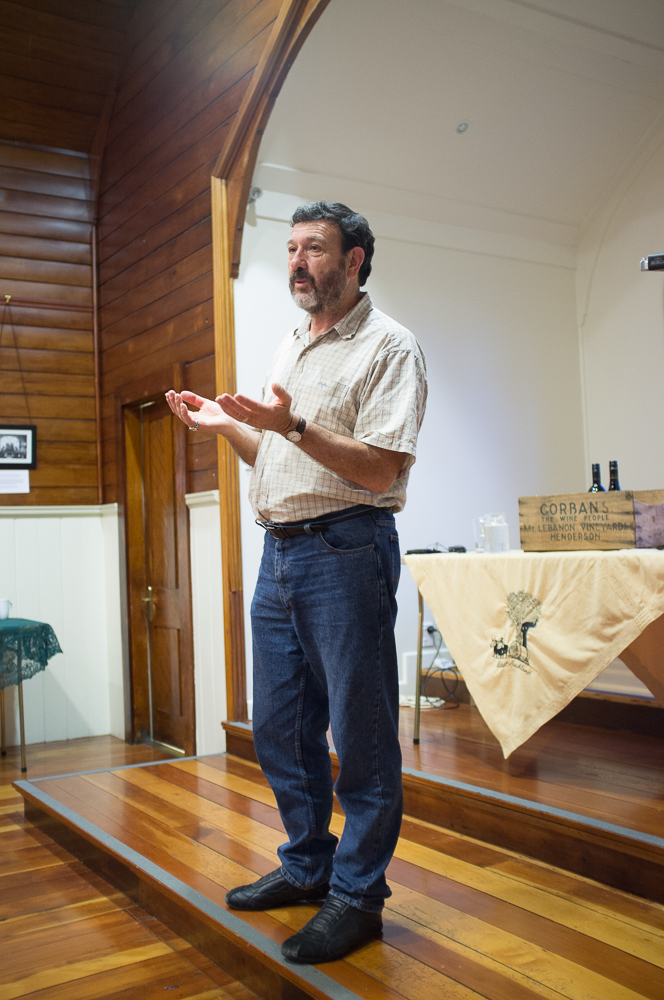 Keith presenting to the West Auckland Historical Society.