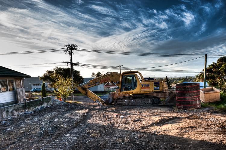 The demolition of Pacific Vineyards brick cellar.
